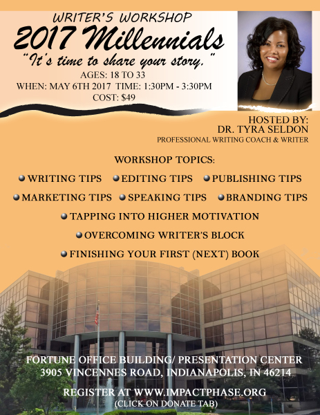 Dr. Seldon Writing Workshop Flyer